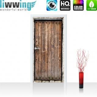 Türtapete - Sonstiges Tür Holz Alt Antik Maserung Stein | no. 4285 - Vorschau 2