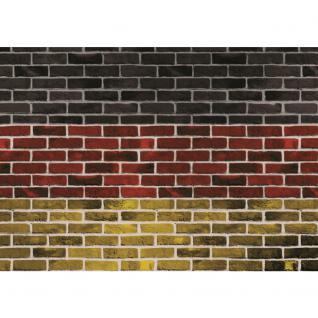 liwwing Vlies Fototapete 312x219cm PREMIUM PLUS Wand Foto Tapete Wand Bild Vliestapete - Steinwand Tapete Steinmauer Steine Deutschland Flagge bunt - no. 3110 - Vorschau 2