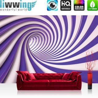 liwwing Fototapete 254x168 cm PREMIUM Wand Foto Tapete Wand Bild Papiertapete - 3D Tapete Abstrakt Netz Perle Murmel Diamant 3D grau - no. 598