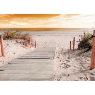 Fototapete Sonnenaufgang Tapete Strand Meer Horizont Sonnenaufang Himmel beige | no. 3070