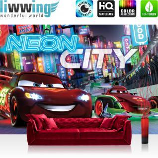 liwwing Vlies Fototapete 312x219cm PREMIUM PLUS Wand Foto Tapete Wand Bild Vliestapete - Disney Tapete Cars Auto Kindertapete Cartoon Jungen bunt - no. 3161