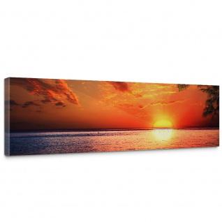 Leinwandbild Caribbean Sundown Sonnenaufgang Meer Strand Beach Palmen   no. 117