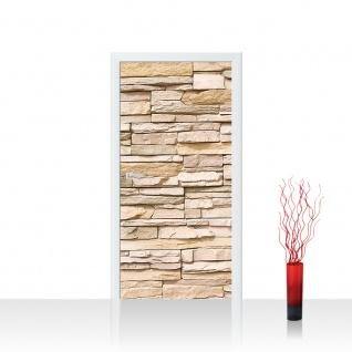 Türtapete - Asian Stone Wall Steinwand Steine Wand Wall 3D Steintapete | no. 1