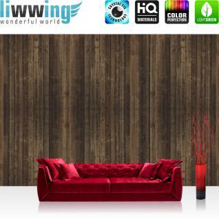 liwwing Fototapete 368x254 cm PREMIUM Wand Foto Tapete Wand Bild Papiertapete - Holz Tapete Holzwand Holzoptik Holz Paneele Natur braun - no. 2366