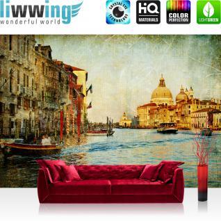 liwwing Vlies Fototapete 300x210 cm PREMIUM PLUS Wand Foto Tapete Wand Bild Vliestapete - Stadt Venedig Kanal - no. 228