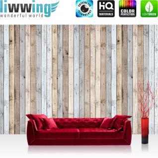 liwwing Fototapete 368x254 cm PREMIUM Wand Foto Tapete Wand Bild Papiertapete - Holz Tapetewand Textur hell Bretter beige - no. 1191