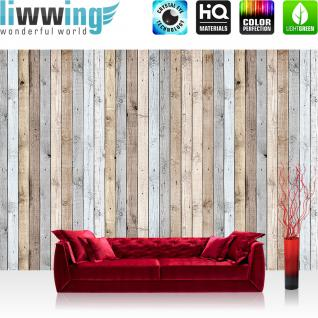 liwwing Vlies Fototapete 416x254cm PREMIUM PLUS Wand Foto Tapete Wand Bild Vliestapete - Holz Tapetewand Textur hell Bretter beige - no. 1191
