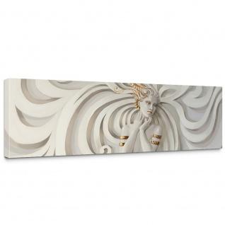 Leinwandbild A Perfect Woman Frau Erotik Gold elegant 3D Wand | no. 45