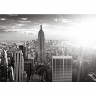 Fototapete Manhattan Skyline USA Tapete New York City Amerika Empire State Building Big Apple schwarz - weiß   no. 15