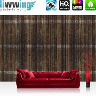 liwwing Vlies Fototapete 104x50.5cm PREMIUM PLUS Wand Foto Tapete Wand Bild Vliestapete - Holz Tapete Holzwand Bretter Illustration Holz braun - no. 1814