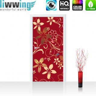 liwwing Türtapete selbstklebend 91x211 cm PREMIUM PLUS Tür Fototapete Türposter Türpanel Foto Tapete Bild - Ornamente Blumen - no. 1109