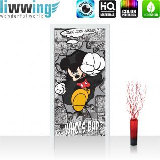 liwwing Vlies Türtapete 91x211 cm PREMIUM PLUS Tür Fototapete Türposter Türpanel Foto Tapete Bild - DISNEY Mickey Mouse Kindertapete Cartoon Comic Maus - no. 1064
