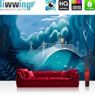 liwwing Fototapete 254x168 cm PREMIUM Wand Foto Tapete Wand Bild Papiertapete - Kindertapete Tapete Disney Aschenputtel Cinderella Kindertapete Prinz blau - no. 2891