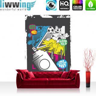 liwwing Vlies Fototapete 312x219cm PREMIUM PLUS Wand Foto Tapete Wand Bild Vliestapete - Disney Tapete ARLO & SPOT Dinosaurier Cartoon Illustration grün - no. 1561