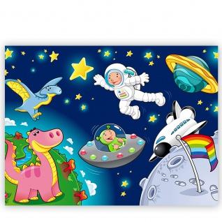 Leinwandbild Little Space Explorers Weltraum Star Weltall Kosmonaut Mond Sterne   no. 89 - Vorschau 2