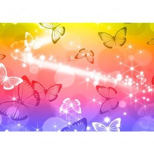 Fototapete Tiere Tapete Schmetterlinge Licht Kunst Punkte bunt   no. 2566