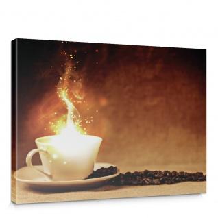 Leinwandbild Kaffeebohnen Kaffee Licht Feuer | no. 1678
