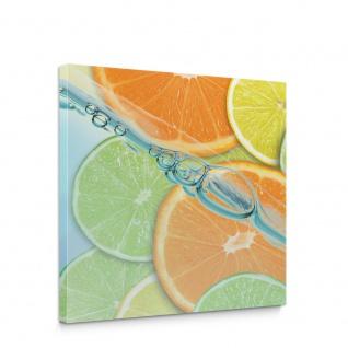 Leinwandbild Limette Orange Zitrone Limone | no. 296