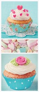 Türtapete - Cupcake Herz Rose Marshmallow   no. 411 - Vorschau 5