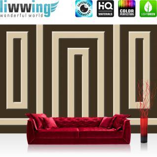 liwwing Vlies Fototapete 312x219cm PREMIUM PLUS Wand Foto Tapete Wand Bild Vliestapete - Illustrationen Tapete Illustration Muster Labyrinth schwarz - no. 1311