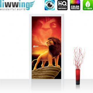liwwing Türtapete selbstklebend 91x211 cm PREMIUM PLUS Tür Fototapete Türposter Türpanel Foto Tapete Bild - -DISNEY König der Löwen Kindertapete Cartoon Löwe - no. 933