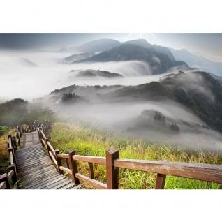 Fototapete Stairway from Mountain Landschaft Tapete Berge Aussicht Alpen Urlaub wandern bunt | no. 53