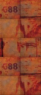 Türtapete - Abstrakt Wand Platten Zahlen Rost   no. 826 - Vorschau 5