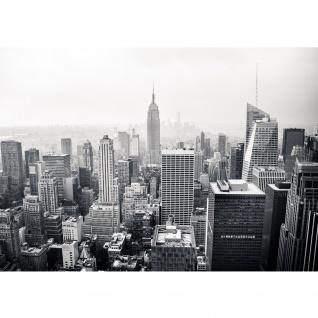 Fototapete Manhattan Skyline USA Tapete New York City Amerika Empire State Building Big Apple schwarz - weiß | no. 118