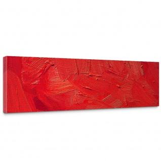 Leinwandbild Wall of red shades Wand Spachtel Hintergrund farbige Wand rot | no. 110