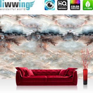 liwwing Vlies Fototapete 416x254cm PREMIUM PLUS Wand Foto Tapete Wand Bild Vliestapete - Steinwand Tapete Marmor Marmoroptik Stein Natur grau - no. 2829