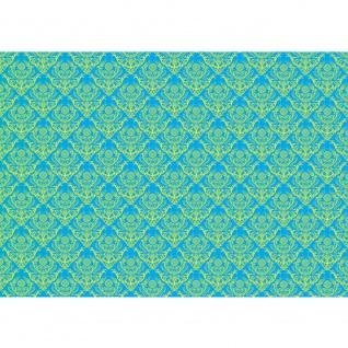 Fototapete Ornamente Tapete Ornamente Muster blau gelb blau   no. 374