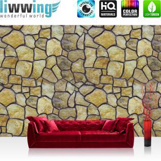 liwwing Fototapete 368x254 cm PREMIUM Wand Foto Tapete Wand Bild Papiertapete - Steinwand Tapete Steinoptik Steine runde Steine natural - no. 2313