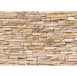 Fototapete Asian Stone Wall - natural - ENDLOS anreihbar Tapete Steinwand Steinoptik Steine Wand Wall beige | no. 130