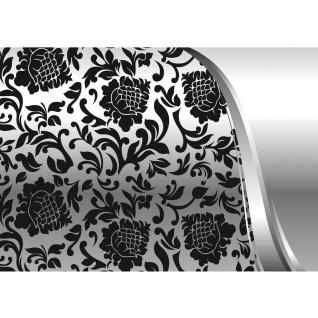 Fototapete Ornamente Tapete Ornamente Elegant Barock schwarz-weiß Grau Blumig Wohnzimmer schwarz - weiß   no. 275