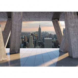 Fototapete Skylines Tapete Skyline Stadt New York Himmel grau | no. 1548