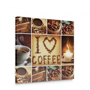 Leinwandbild Essen Trinken Kaffee Kaffeebohnen Tassen Küche | no. 4935