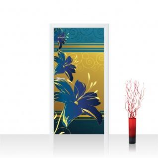 Türtapete - Abstrakt Ornamente Blumen | no. 572