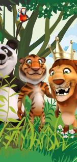 Fototapete Kinderzimmer Zoo Tiere Safari Comic Party Dschungel liwwing no 87