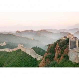 Fototapete China Tapete China Mauer Steine Natur Ausblick grau   no. 251
