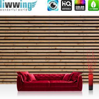 liwwing Vlies Fototapete 416x254cm PREMIUM PLUS Wand Foto Tapete Wand Bild Vliestapete - Holz Tapete Bretter Leisten braun - no. 1226