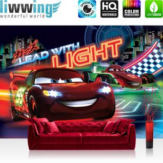 liwwing Vlies Fototapete 416x254cm PREMIUM PLUS Wand Foto Tapete Wand Bild Vliestapete - Disney Tapete Cars (PIXAR) Cartoons Lightning McQueen Francesco Bernoulli bunt - no. 1569