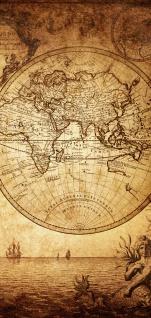 Türtapete - Vintage World Map Weltkarte Vintage Atlas alte Karte alter Altas | no. 76 - Vorschau 5