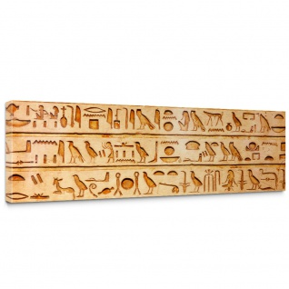 Leinwandbild Hyroglyphen Alt Abstrakt Ornamente Symbole | no. 180