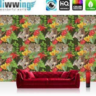liwwing Vlies Fototapete 416x254cm PREMIUM PLUS Wand Foto Tapete Wand Bild Vliestapete - Skylines Tapete Aussicht Dubai Stadt Arabisch Nacht Mond bunt - no. 2956