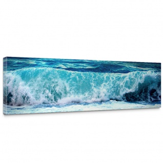Leinwandbild Blue Seascape Ozean Meer Wasser See Welle Sturm Blau Türkis | no. 100