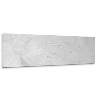 Leinwandbild Wall of white shades Wand Spachtel Hintergrund farbige Wand weiß beige | no. 111