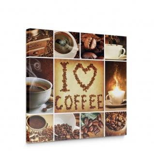 Leinwandbild Essen Trinken Kaffee Kaffeebohnen Tassen Küche | no. 4936