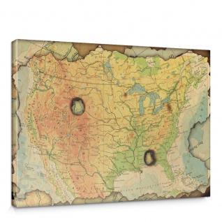 Leinwandbild Landkarte Karte Kontinent Vintage Globus Wissenschaft Kartografie Reise | no. 4314