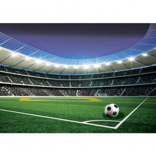 Fototapete Fussball Tapete Stadion Tribüne Fussballfeld Lichter Flagge Brasilien grün   no. 1970
