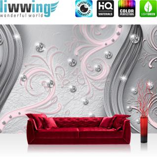 liwwing Vlies Fototapete 400x280 cm PREMIUM PLUS Wand Foto Tapete Wand Bild Vliestapete - 3D Tapete Abstrakt Kugeln Muster Streifen Waben 3D gelb - no. 555